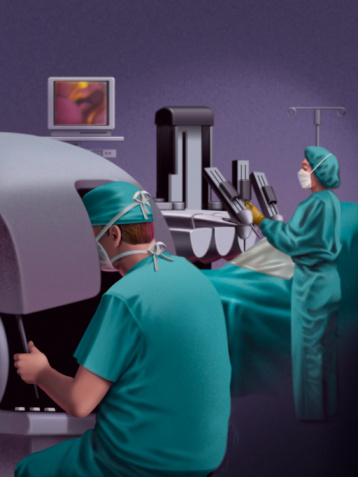 Dr.Stanley Friedell, MD, Image For Surgery Assisted By The da Vinci